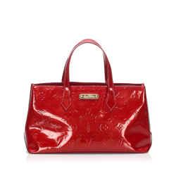 Vintage Authentic Louis Vuitton Red Vernis Wilshire PM France