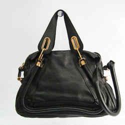Chloe Paraty Women's Leather Handbag,Shoulder Bag Black BF523723
