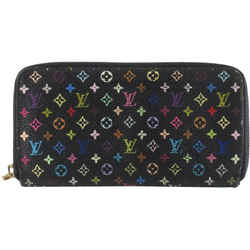 Louis Vuitton Black Monogram Multicolor Noir Zippy Wallet Long Zip Around 861809