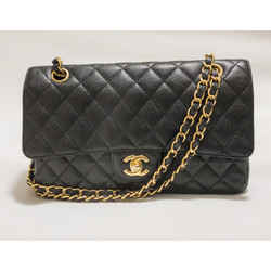 Chanel Medium Classic Black Caviar Double Flap Bag Gold Hardware 2012