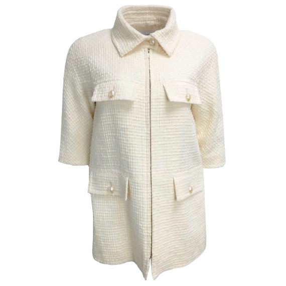 Chanel Cream Cotton Jacket