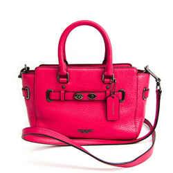 Coach Trim Mini Break Carryall F37635 Women's Leather Handbag,Shoulder  BF518474