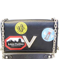 Louis Vuitton Epi World Tour Twist Chain Wallet Noir Black Crossbody