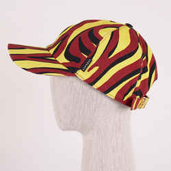 60 L NEW $425 VERSACE Mens Black Yellow Red EXOTIC ANIMAL PRINT BASEBALL CAP HAT