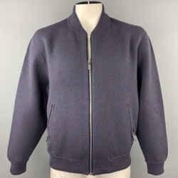 LOUIS VUITTON Size XL Blue & Purple Melange Cashmere Blend Jacket