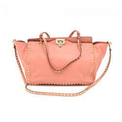 Valentino Pink Rockstud Medium Tote Bag Oa105