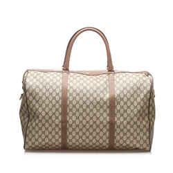 Brown Gucci GG Canvas Travel Bag