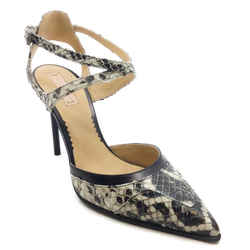 Reed Krakoff Black And White Snake Ankle Pumps