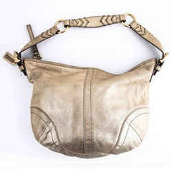 Coach Mettalic Hobo Gold One Size Authenticity Guaranteed