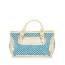 Blue Celine Macadam Boogie Canvas Handbag Bag