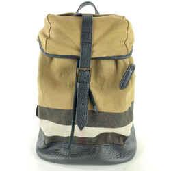 Burberry Beige Nova Check Drifton Backpack 13BUR1022