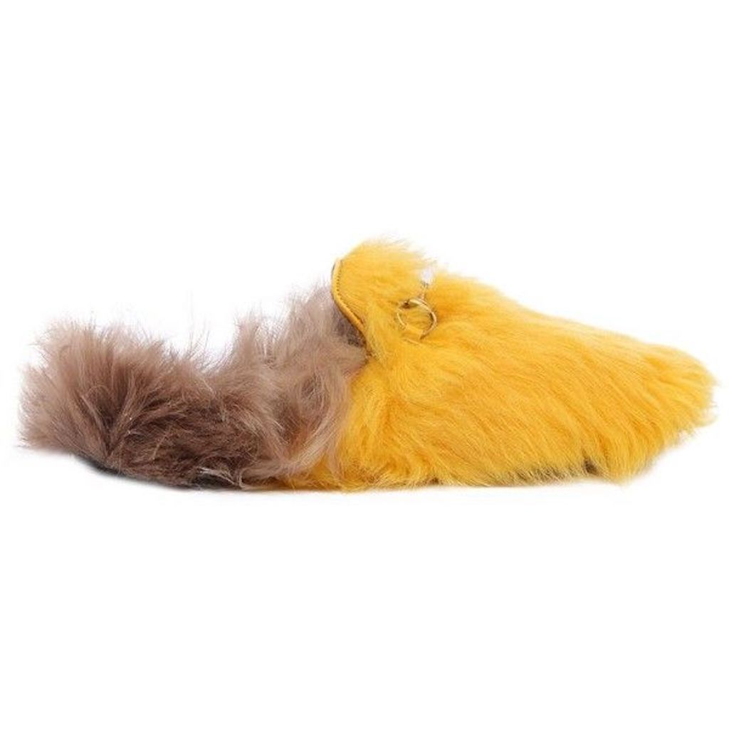 Gucci Yellow Princetown Lamb Fur Mules