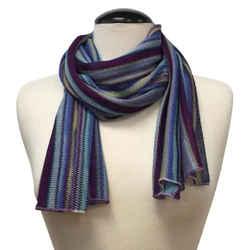 Missoni Blue Multicolor Striped Scarf/Wrap