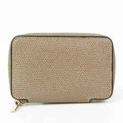 Valextra Unisex Leather Coin Purse/coin Case Grayish BF525798