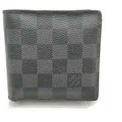 Louis Vuitton Damier Graphite Portefeuille Marco Bifold Men's Wallet 862775