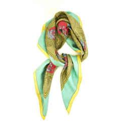 "Hermes ""les Armes De Paris"": 100% Silk Twill Scarf/foulard 34"" X 34"" (mp)"