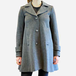 Gray Notch-lapel Wool Coat