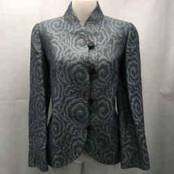 Armani Collezioni Blue Textured Blazer 10