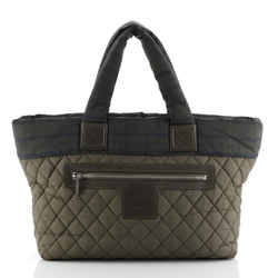 Coco Cocoon Zipped Tote Quilted Printed Nylon Medium
