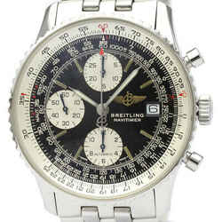 Polished BREITLING Old Navitimer Steel Automatic Mens Watch A13022 BF516544