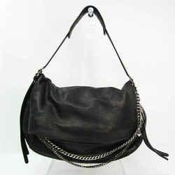 Jimmy Choo Women's Leather Shoulder Bag Black BF525576