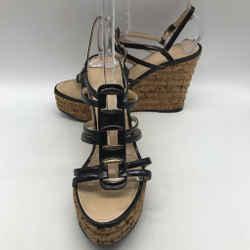 Chanel Black Wedge Heel 10