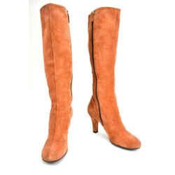 Gucci: Burnt Sienna, Leather Tall Boots Sz: 6m