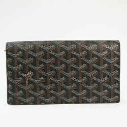 Goyard Richelieu Herringbone APM205 Unisex Coated Canvas,Leather Long W BF528179