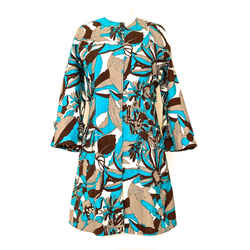 Dolce & Gabbana Turquoise Multi Print Jacket/dress Sz. 4