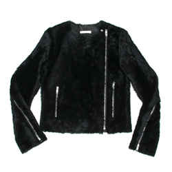Celine - New - Fur Shearling Leather Jacket - Charcoal Black Coat - Us 2 - 34