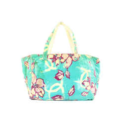 Chanel Blue Floral Shopper Tote Bag 653cks317