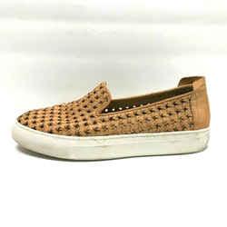 $224 Rachel Zoe Tan Woven Leather Burke Fashion Sneaker Shoes Size 7.5 37.5