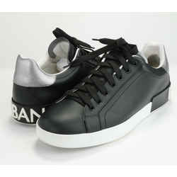 Dolce & Gabbana Men's Portofino Logo Leather Low-top Sneakers