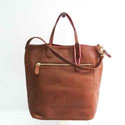 Bally MACY-MD Unisex Leather Shoulder Bag,Tote Bag Brown BF533414