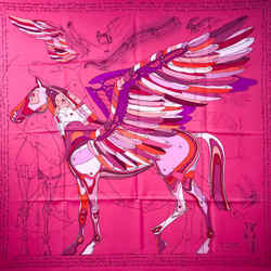 Le Pegase D'hermes Hermes Silk Scarf By Christian Renonciat 90 Cm Highly Sought After