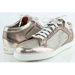 Jimmy Choo Miami Metallic/Glitter Sneakers