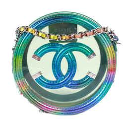 Chanel - Authentic Pvc Filigree Iridescent Crossbody Bag Cc Rainbow Blue Circle
