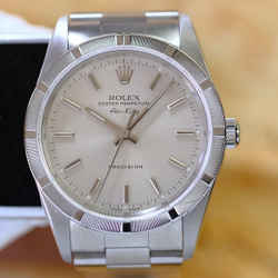 Rolex Airking SS Silver Dial 34mm Watch