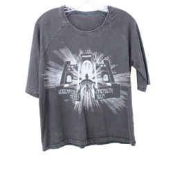 Zadig & Voltaire Grey Print Cotton Top sz 4