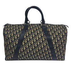 Dior Large Navy Monogram Trotter Boston Duffle 860571
