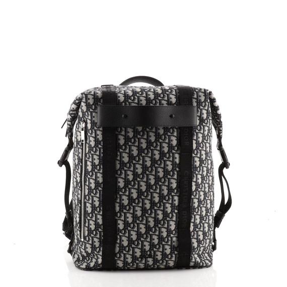 Safari Zip Backpack Oblique Canvas Medium