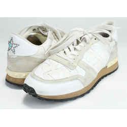 Valentino Garavani White Rockrunner Camustars Sneakers