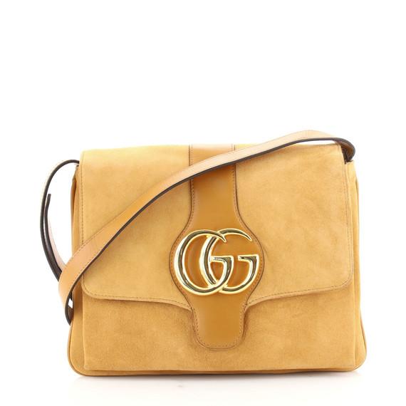 Arli Shoulder Bag Suede with Leather Medium