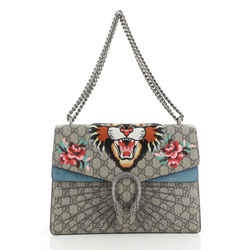 Dionysus Bag Embroidered GG Coated Canvas Medium