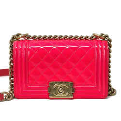 chanel Patent Small Le Boy Bag Neon Pink
