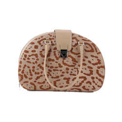Moschino Animal Print Handbag Brown
