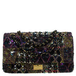 Chanel Multicolor Lesage Tweed Jewel Encrusted 2.55 Reissue Classic 227 Flap Bag
