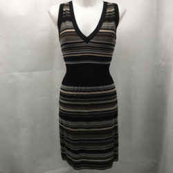 Missoni Black Striped Dress Medium