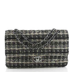 Vintage Classic Double Flap Bag Quilted Tweed Medium