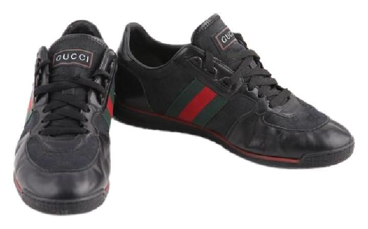 Gucci Lace-up Trainer With Signature